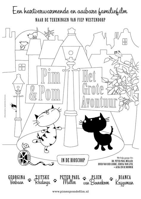 Pim En Pom Kleurplaat by Leuk Voor Pim Pom De