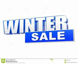 winter sale in 3d blue letters and block royalty free With 3d letters for sale