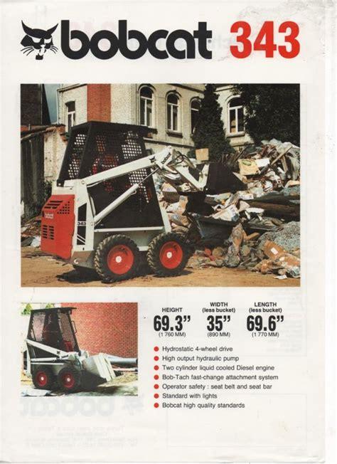 Bobcat 343 Brochure