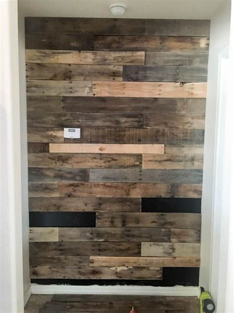 install  pallet wall  easy  man caves
