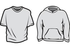 T-Shirt Template Vector Graphics