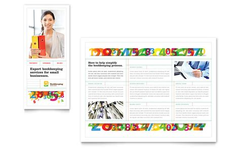 bookkeeping services brochure template design