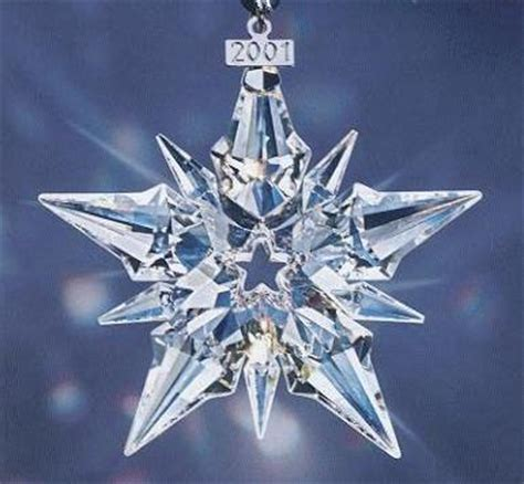 2007 swarovski crystal christmas snowflake star annual ornament swarovski 2001 snowflake annual ornament never displayed ornaments