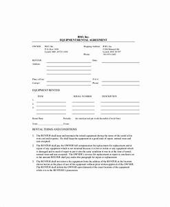 equipment lease template 8 free word pdf documents With equipment lease document