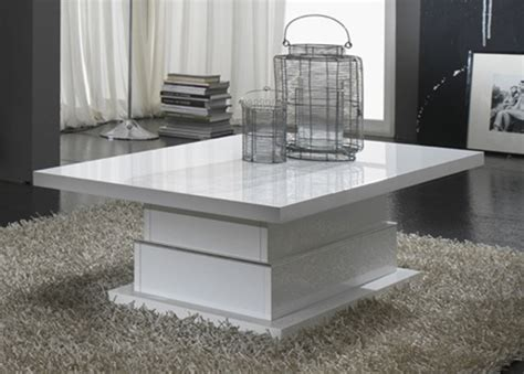 table en verre cuisine table basse laque blanc