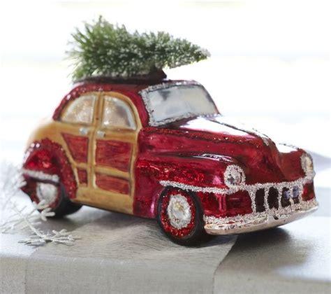 woody car glass ornament contemporary christmas ornaments sacramento by pottery barn