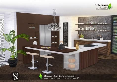 cayenne kitchen  simcredible designs  sims  updates