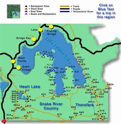 Yellowstone Divide Continental Map Ocean Thorofare Trip