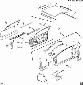 2001 Oldsmobile Alero Sheet Metal  Body Part 2 Door  U0026 Roof
