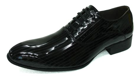 collection perforated patent leather