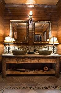 Rustic, Bathroom, Vanity, Design, Ideas