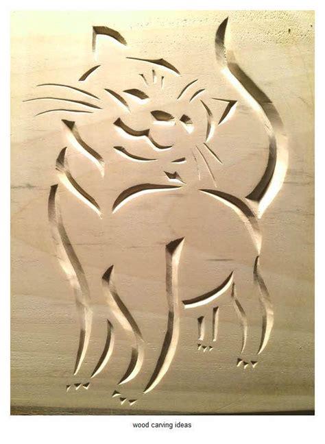 wood carving pattern  beginner ideas cat simple wood