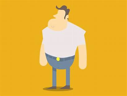 Strong Animated Gifs Character 2d Dribbble Animation