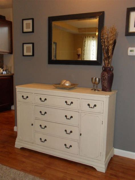painted buffet sherwin williams antique white mixed