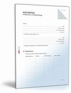Mietvertrag Kostenlos Pdf : mietvertrag maschinen und bauwerkzeuge muster zum download ~ Frokenaadalensverden.com Haus und Dekorationen