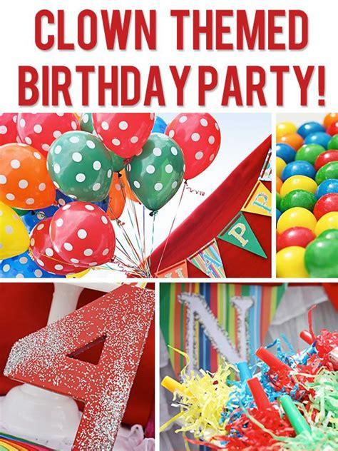 birthday party ideas rookie clown themed rainbow birthday party themed birthday