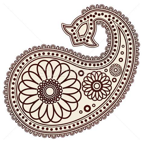 vector abstract henna mehndi paisley doodle vector illustration design elements