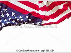 American flag border isolated on white background stock
