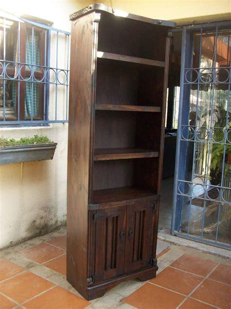 bibliotecaestanteria cptas madera maciza rustica chierro  en mercado libre