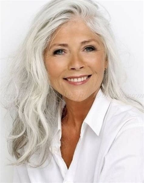 makeup  women       stunning  aksahin jewelry long gray hair