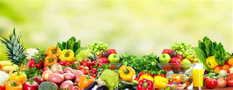 fresh fruits and vegetables health and diet background grace goals and guts