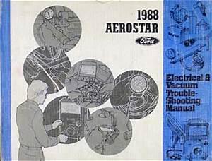 1988 Ford Aerostar Original Repair Shop Manual