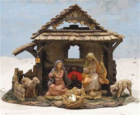 christmas scene decorations a vintage chic beautiful nativity sets vintage paper and living