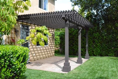 wood lattice patio traditional patio los angeles