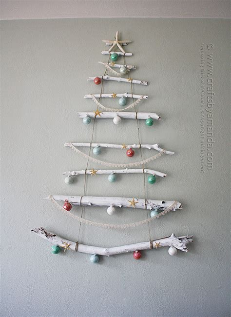 coastal branch tree for christmas crafts by amanda