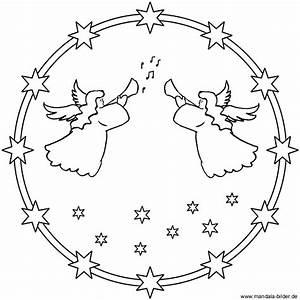 Mandala Mit Engel Zum Ausdrucken Und Ausmalen