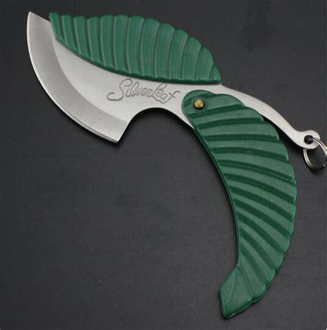 Online Shop Creative Green Leaf shape pocket knife folding