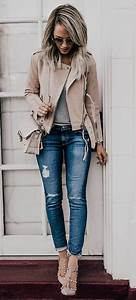 200+ Cute Ripped Jeans Outfits For Winter 2017 | fashion | Pinterest | Ripped skinny jeans ...