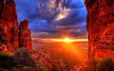 arizona sunset red stones united states desktop hd