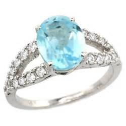 engagement rings with blue 14k white gold sky blue topaz engagement ring engagement rings review