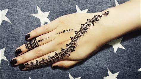 Diy Easy Mehendi Design For Fingers Tutorial #7