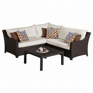 RST Brands Deco 4 Piece Patio Corner Sectional Set With