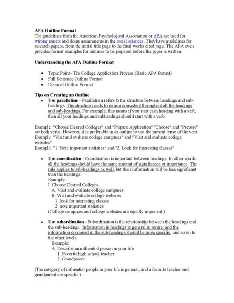 Apa Outline Template Apa Outline Template Template Business