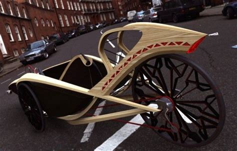 super sleek bamboo recumbent tricycle concept human