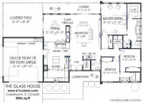 modern house floor plan modernist 3br 2056 sq ft http www 61custom images glasshouse floorplan gif house