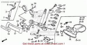 Honda Gl1200 Goldwing 1984  E  Usa California Steering