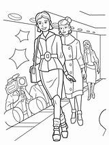 Coloring Pages Runway sketch template