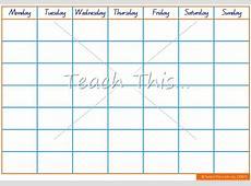 Calendar Template Printable Classroom Displays Teacher