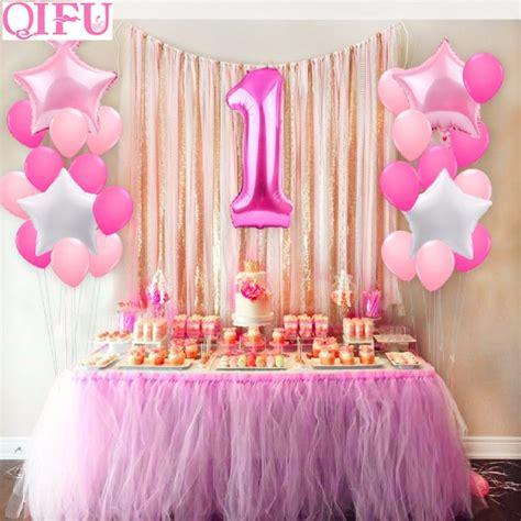 qifu pcs  year  st birthday balloons girl baby