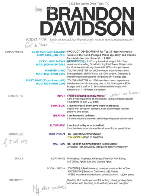 awesome resume designsawesome resume designs brandon davidson s awesome resume for future reference