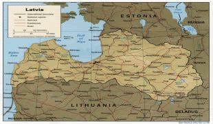Latvijas ģeogrāfiskā Karte - Foto Kolekcija