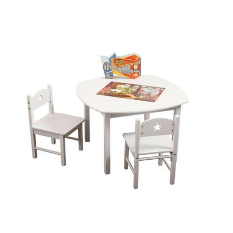 chaises enfants ensemble table et chaises enfant etoile blanc achat