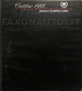 1988 Cadillac Deville And Fleetwood Repair Shop Manual