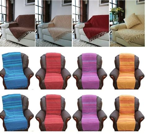 Settee Throws Uk by Cotton Single Sofa Seat Chair 1 2 3 Seater Settee Bed