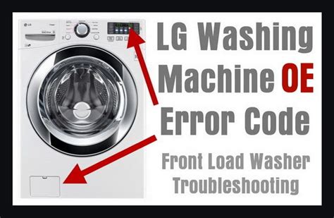 lg front load washing machine error code oe   clear