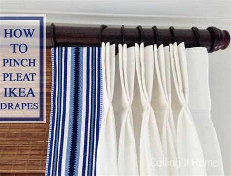 how to pinch pleat ikea curtains ikea hackers clever